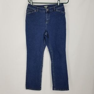 J Jill womens size 8P Stretch Jeans Straight Leg